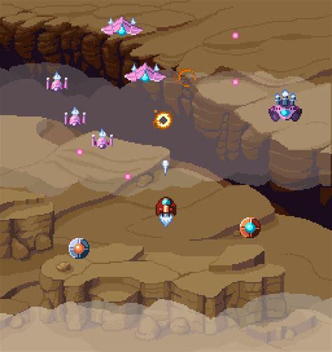 space ship shooter pixel art assets opengameartorg