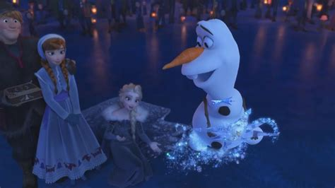 olafs frozen adventure trailer anna  elsas snowman