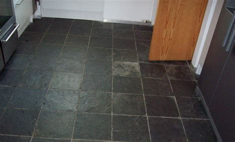 Slate Tiled Floor Cleaned And Resealed In Glasgow