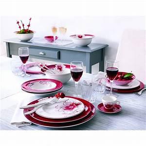Exemple Service De Table Rouge Et Blanc Vaisselle Maison