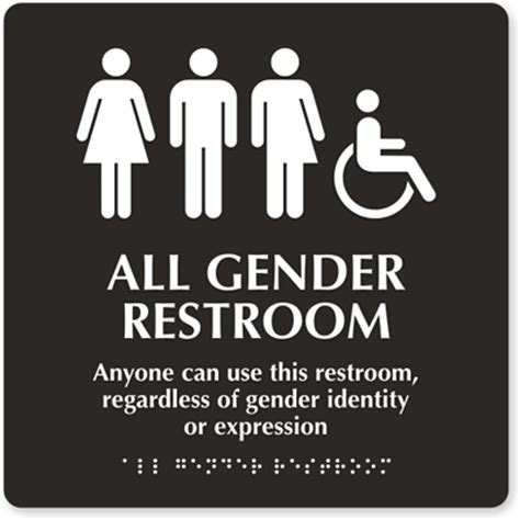 Gender Neutral Bathroom Signs by Toilets
