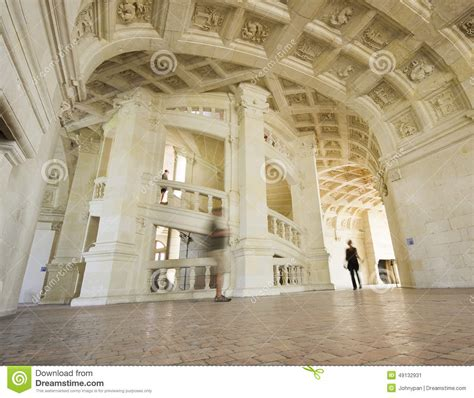 chambord famous stairs editorial photo image 49132931
