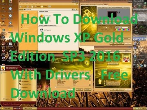 how to windows xp gold edition sp3 2016 with drivers free