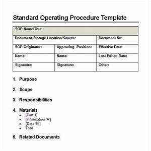 9 standard operating procedure sop templates word With standard operating guidelines template