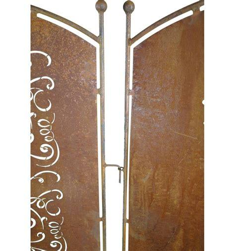 Sichtschutz Garten 140 Cm by Metall Sichtschutz Rostig Mit Blumengarten Motiv 70cm X 140 Cm