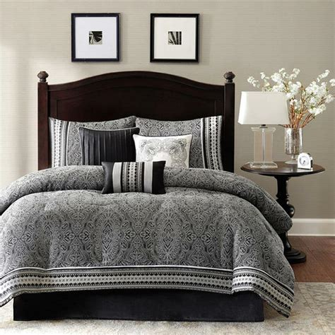King Size Bedroom Comforter Sets by Polyester Jacquard 7 Comforter Set Damask Pattern