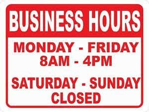 open  business hours  operation signsize options