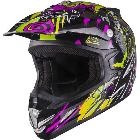 purple motocross shox mx 1 nightmare black purple green motocross helmet mx