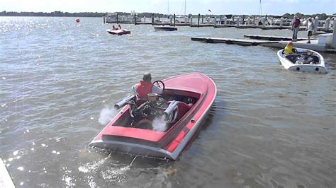 Boat R Rollers Canada by V8 Powered Flat Bottom Classic Race Boat And Loud