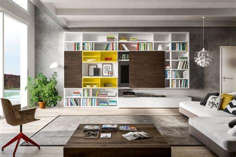 Libreria Con Porta Tv A Scomparsa 598  Napol Arredamenti