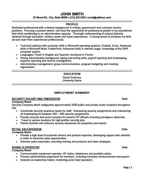 Timekeeper Resume by Security And Timekeeper Resume Template Premium