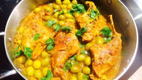 cuisine marocaine poulet aux olives poulet aux olives