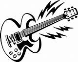 Guitar Coloring Pages Electric Printable Clip Adult Clipart Hero Guitars Acoustic Da Google Musical Con Gambar Rocking Awesome Express Instrument sketch template