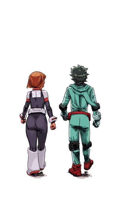 midoriya izuku  uraraka ochako boku  hero academia