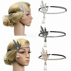 Vintage Crystal Rhinestone Woman Ladies Headband Hairband