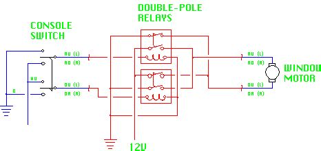 Xj6 Wiper Wiring Diagram by Figure 8 Relay Addition For Window Circuit