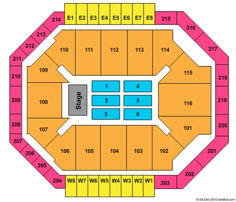 constant convocation center seating chart constant