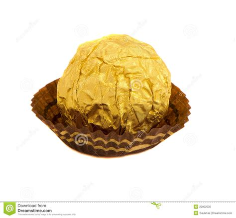 Candy Round Sweet Wrapped Gold Foil Royalty Free Stock Photo   Image: 22902035