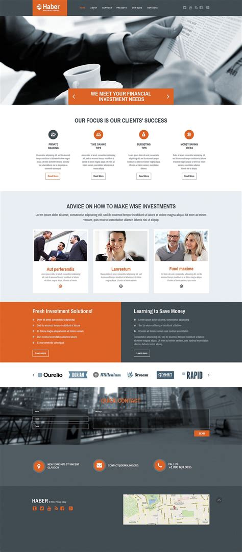 homepage template business responsive website template 55458