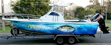 Yellow Boat Wraps by Redfish Boat Wraps Images
