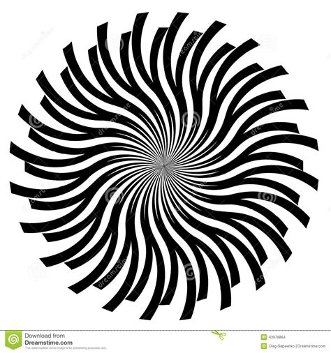 Abstract Vector Black And White by Black And White Abstract Psychedelic Stock Vector
