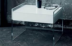 Table De Chevet Verre : chevet float 50 cm verre tremp transparent 10surdix ~ Teatrodelosmanantiales.com Idées de Décoration