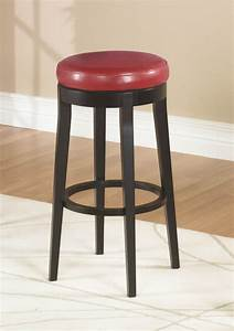 Mbs-450 Backless Swivel Counter Stool  Red