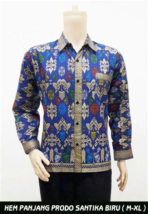 jual baju batik pria santika prodo panjang batik kerja baju batik terbaru kemeja pria