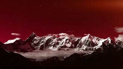 Snow Winter Sky Dark Mountain Star Desktop