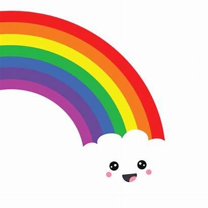 Rainbow Kawaii Happy Sticker Giphy Regenboog Tweet