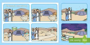 abraham  sarah bible story sequencing cards ks year