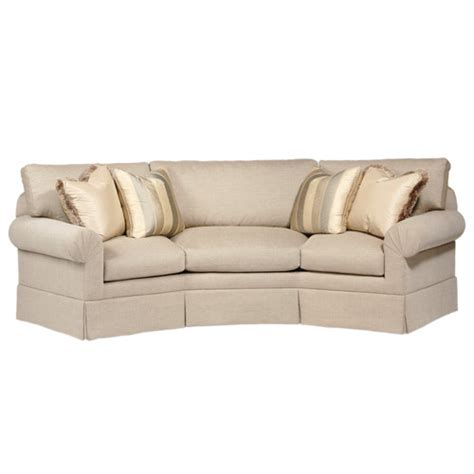 Rounded Back Sofa by Curved Back Conversation Sofa Wayfair