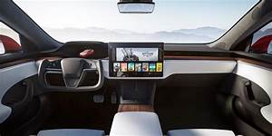 Tesla teases Model S Plaid with refreshed interior: New touchscreen, Roadster steering wheel ...