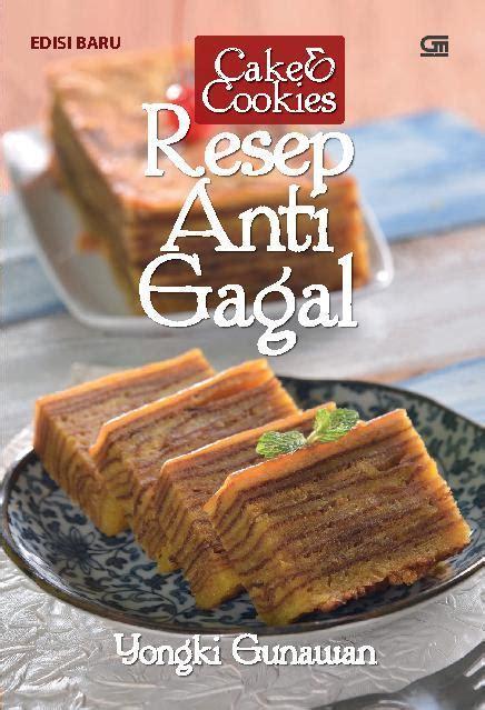 jual buku cake cookies resep anti gagal oleh yongki