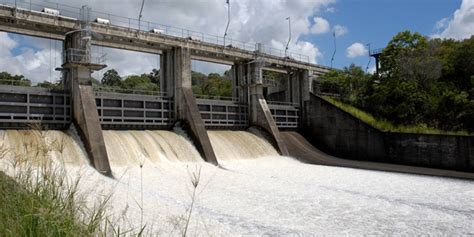 Boat R At Somerset Dam by Spillway Gates Removed From Leslie Harrison Dam Bush N