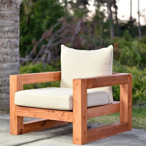 modern outdoor chair  plan diy creators