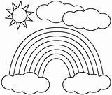 Coloring Sun Printable Sheet Colour Preschool Rainbow Sponsored Link Rainbows Printables Clip Outline sketch template