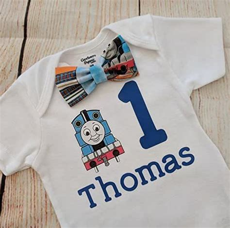 How to make your own one birthday onesie. Amazon.com: Thomas the train first birthday Shirt, first ...