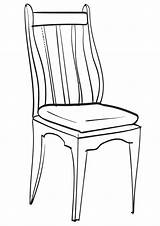 Chair Coloring Chair2 sketch template