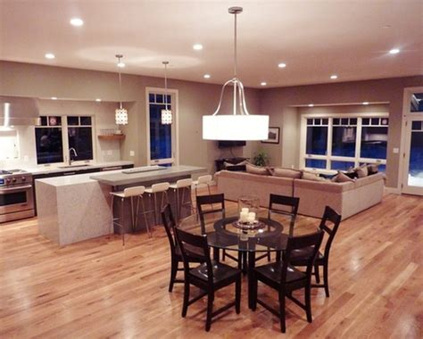 Combined Kitchen And Living Room Designs By Space