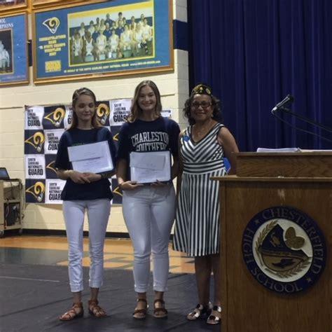 american legion presents scholarships chesterfield high