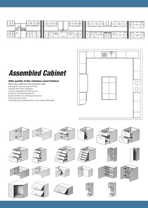 China Factory Stainless Steel Autocad Modern Kitchen
