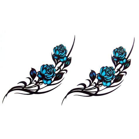 tatouage temporaire tatouage ephemere tatouage rose bleue