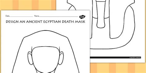 Ancient Mask Template by Design An Ancient Mask Activity Australia
