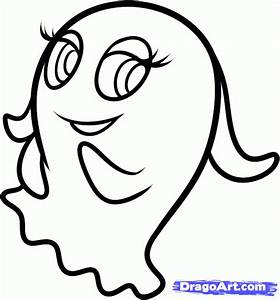 pacman coloring pages - how to draw pinky from pac man and the ghostly adventures