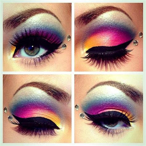 stylish  crazy party wear eye makeup xcitefunnet