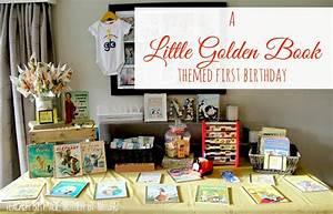Kids Parties: A Little Golden Book themed First Birthday ...