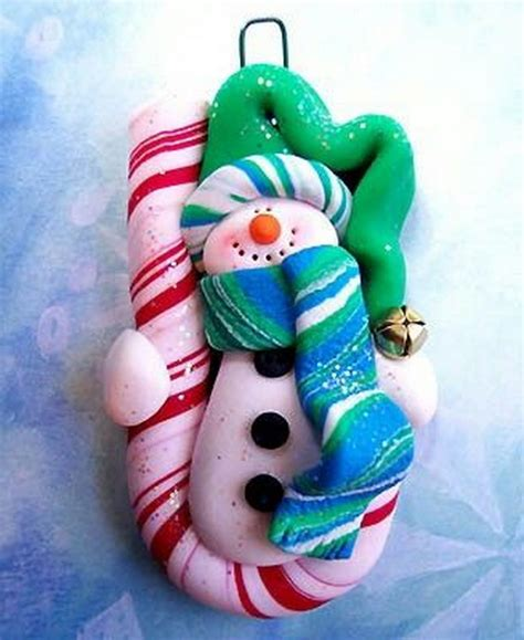 polymer clay snowman  christmas holiday family
