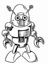Coloring Robots Robot Popular Mechanical sketch template