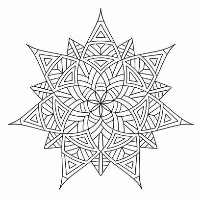 Coloring Geometric Pages Designs Printable
